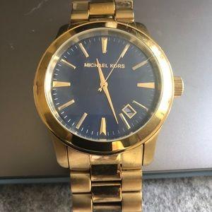 Rare blue face never worn Michael Kors men's watch